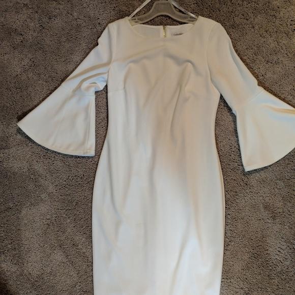36076c4a Calvin Klein Dresses & Skirts - Bell Sleeve Calvin Klein Dress